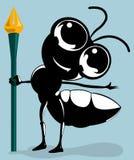 De pen van de mierenholding Royalty-vrije Stock Afbeeldingen