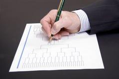 De Pen van de Waanzin van maart en de Lege Steun van Toernooien Royalty-vrije Stock Afbeelding