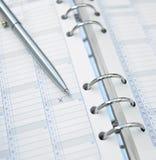 De penkruis van de kalender Stock Afbeelding