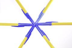 De pennen van de Ballpoint op witte achtergrond. Royalty-vrije Stock Foto's