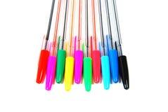De pennen van de kleur Stock Afbeeldingen