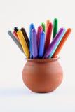 De pennen van de vezel stock afbeeldingen