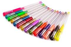 De pennen van kleuren Stock Foto