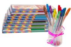 De pennen van ?olor Stock Foto's
