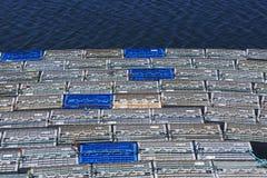 De pennen van de zeekreeftopslag stock foto