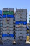 De pennen van de zeekreeftopslag royalty-vrije stock afbeeldingen