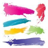 De penseelstreek van de kleur Stock Foto's