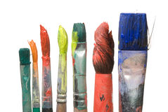 De penselen van de kunstenaar Stock Fotografie
