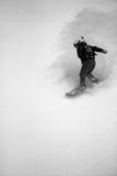 De pensionair van de sneeuw #4 in actie Stock Fotografie