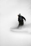 De pensionair van de sneeuw #5 in actie Stock Afbeeldingen