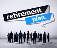 De Pensionering van het pensioneringsplan het Concept van het Planningspensioen Royalty-vrije Stock Afbeelding