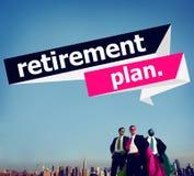 De Pensionering van het pensioneringsplan het Concept van het Planningspensioen Royalty-vrije Stock Fotografie