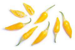 De peper C van Ajihabanero baccatum, bovenkant, wegen Stock Fotografie
