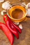 De peper, de honing en het knoflook van Ramiro stock afbeelding