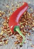 De peper en de zaden van Spaanse pepers Royalty-vrije Stock Afbeelding