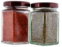 De peper van de marjolein en van Spaanse pepers Royalty-vrije Stock Foto
