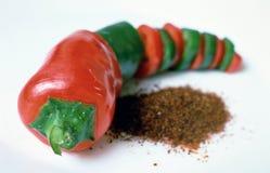 De peper van de Spaanse peper Stock Afbeelding