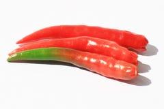 De peper van de Spaanse peper op wit, Thailand. Stock Afbeeldingen