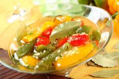 De peper van groenten in het zuur Royalty-vrije Stock Foto's