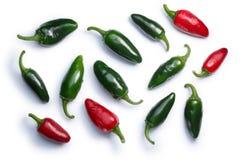De peper van Jalapenochili, wegen, hoogste mening Stock Fotografie
