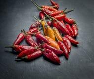 De peper van Peperoncinospaanse pepers Stock Foto's