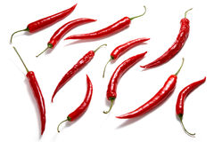 De pepergroep van de Spaanse peper op wit Royalty-vrije Stock Afbeelding