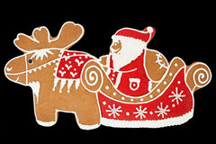 De peperkoek van de Kerstman Stock Foto