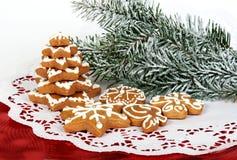 De peperkoek van Kerstmis Stock Afbeeldingen