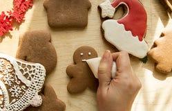 De Peperkoekcakes van nieuwjaarkerstmis stock foto's