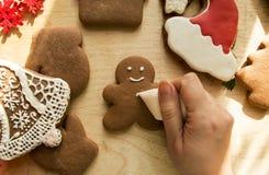 De Peperkoekcakes van nieuwjaarkerstmis stock fotografie