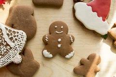 De Peperkoekcakes van nieuwjaarkerstmis stock foto