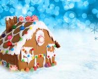 De peperkoekhuis van Kerstmis. Stock Afbeelding