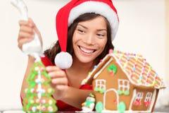 De peperkoekhuis van Kerstmis Royalty-vrije Stock Afbeeldingen