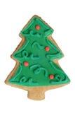 De peperkoekkoekje van Kerstmis dat in de vorm van Kerstboom wordt gemaakt stock afbeeldingen