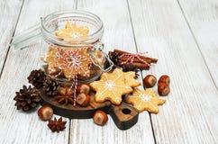De peperkoekkoekjes van Kerstmis Stock Afbeelding