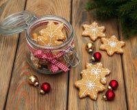 De peperkoekkoekjes van Kerstmis Royalty-vrije Stock Afbeeldingen
