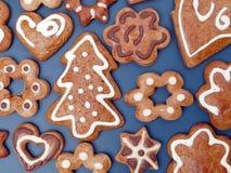 De peperkoekkoekjes van Kerstmis Royalty-vrije Stock Afbeelding