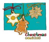 De peperkoekkoekjes van Kerstmis Royalty-vrije Stock Foto