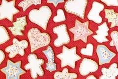 De peperkoekkoekjes van Kerstmis stock foto