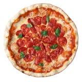 De pepperonis van de pizza royalty-vrije stock foto's