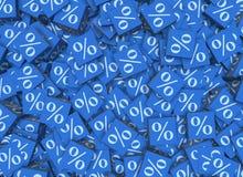 De percentagetekens op kubussen - het 3d teruggeven Stock Afbeeldingen
