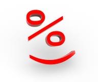 De percenten van de glimlach Stock Foto's