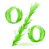 De percenten van het gras Royalty-vrije Stock Afbeelding