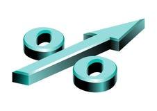De percenten van het symbool in de vorm van pijl Royalty-vrije Stock Fotografie