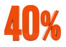 De percenten voorzien 3d Teken Stock Afbeelding