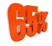 De percenten voorzien 3d Teken Stock Foto