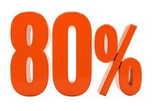 De percenten voorzien 3d Teken Stock Foto's