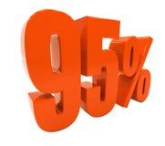 De percenten voorzien 3d Teken Royalty-vrije Stock Foto