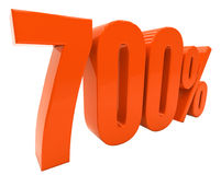 De percenten voorzien 3d Teken Royalty-vrije Stock Afbeeldingen