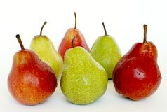 De peren van kleuren Stock Afbeeldingen
